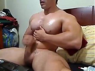 Muscular hot sexy masturbation time