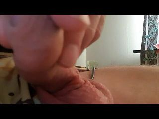 playing with my cock and jerking off with it as well